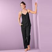 ☘ Жіноча двухкомпонентная ткана піжама з V-подібним вирізом Tchibo, р.наш: 44-46 (38 євро)