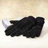 Классные замшевые перчатки с вязаными вставками, Livergy Германия, размер 9