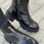 Кожанные зимние ботинки  27  см по стельке