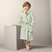 ☘ Б/У ☘М'якенький махровий халат в смужку від Tchibo (Німеччина), розмір: 122/128