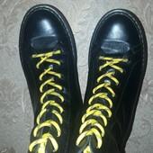 Зимние ботинки Martins кожа, натуральный мех.