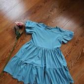 Красивий колір, плаття ярусне, об'ємний рукав ❤️ 13р