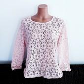 Новая❤кружевная блузка пудрового цвета Еllos Смотрим замеры