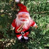 Игрушка на елку или окно с присоской дед мороз 18 см 3 шт