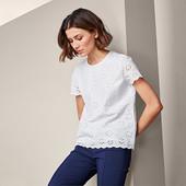 ☘ Сорочка -блузка з перфорованою вишивкою Tchibo (Німеччина), наші р.: 46-48 (40 евро)