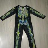 Костюм скелета на Хеллоуин 3-4года
