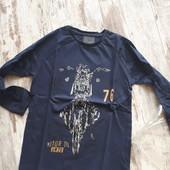 Стильный коттон темно синий реглан мотоцикл122р полномер Гло Стори Качество