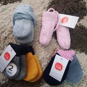 Теплые варежки для малышей