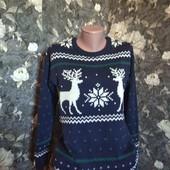 новогодний свитерок Очень теплий двойная вязанка