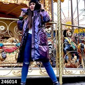 Сильное дутое виниловое пальто хамелеон зима.Распродажа