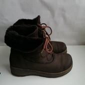 Зимние кожаные сапоги на натуральной цегейке Стелька 25.7 Югославия