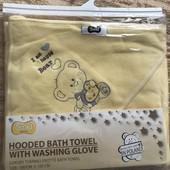 Новий набір рушник з капюшоном і мийка-рукавичка Smiki