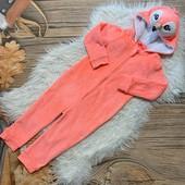 Тёпленький мягусенький плюшевый слип, кигуруми, пижама на 3/4 года